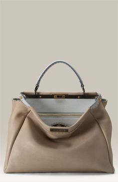 57 Best Fendi Peekaboo images   Beige tote bags, Leather totes, Zapatos 747a746dec1