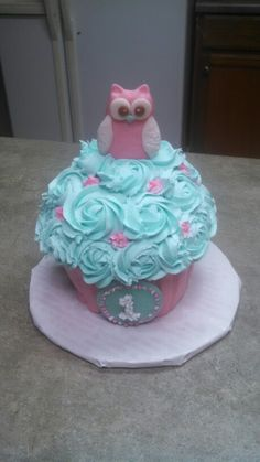 Owl smash cake.