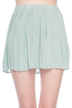 short pleated chiffon skirt ▲ tobi