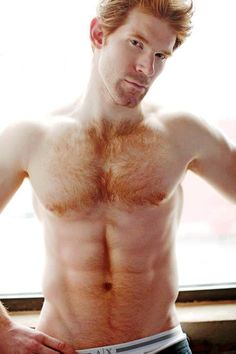 sweet mother of God, that is one sexy hairy ginger stud!!!