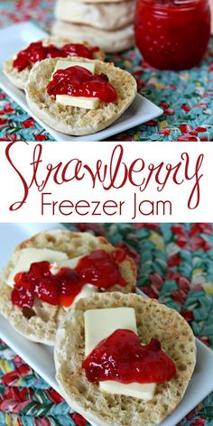 Strawberry Freezer Jam - Mom Needs Chocolate Strawberry Freezer Jam, Strawberry Picking, Strawberry Recipes, Strawberry Jam, Freezer Meals, Easy Meals, Good Food, Yummy Food, Crockpot Recipes
