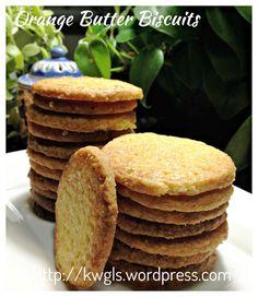 Orange Butter Biscuits