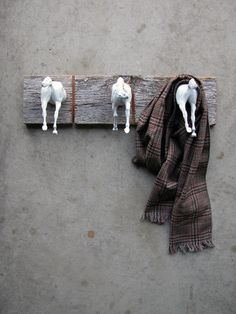 Three Tails Horse Clothing or bridle Rack by EQUINEbyLauren