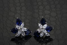 These #DiosabyDarshanDave #earrings will make any woman feel like a princess. Each piece features shimmering pear and marquise-shaped #SwarovskiZirconia, enhanced with deep blue stylized stones. An ideal gift or treat for yourself! #makeeverydaybrilliant  #jewellery  #finejewellery #traveljewellery  #weddings #fashionwear #preciousjewellery  #luxejewellery  #dailywear #workwear  #casualwear #destinationweddings  #bridalwear