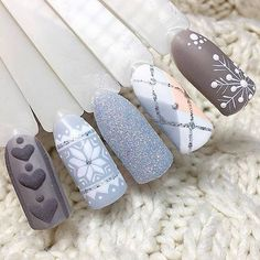 Simple Nail Art Designs That You Can Do Yourself – Your Beautiful Nails Nail Art Noel, Holiday Nail Art, Xmas Nails, Winter Nail Art, Christmas Nail Art, Winter Nail Designs, Christmas Nail Designs, Nail Art Designs, Cute Acrylic Nails