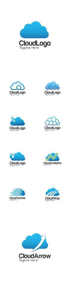 Vector Cloud Creative Concept Logo Design