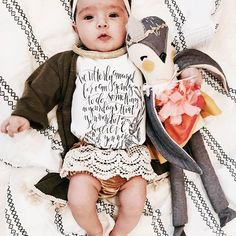 """""""Be amazed, for I will do something in your days that you wouldn't believe even if you were told."""" -Habakkuk 1:5 Baby onesie - The Pine Torch. Baby girl clothes"""