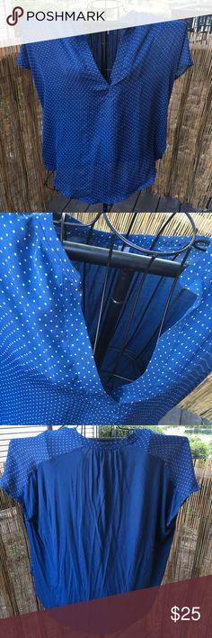 Lauren Conrad polka dot blouse Perfect condition, very flattering! LC Lauren Conrad Tops