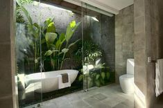 Badezimmer 33 The Best Jungle Bathroom Decor Ideas To Get A Natural Impression Caring Of A Tie If a Outdoor Bathrooms, Dream Bathrooms, Beautiful Bathrooms, Modern Bathroom, Minimal Bathroom, Bathroom Vintage, Outdoor Baths, Small Bathroom, Marble Bathrooms