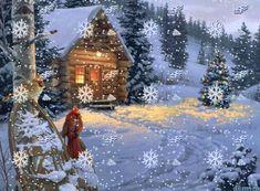 Merry Christmas Landscape | ... christmas animated, 2014 merry christmas animations, winter landscape
