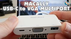 Macally USB-C to VGA MultiPort Adapter Review for 12 inch MacBook