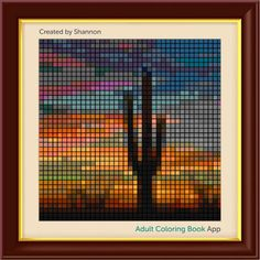 #adultcoloring #adultcoloringbook #adultcoloringbookapp #desert #desertart #cactus #saguaro #saguarocactus #desertart #pixels #pixelart