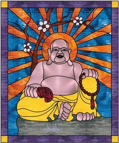 stained glass simple design buddha - Google Search