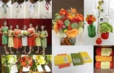 Image Search Results for orange wedding color schemes