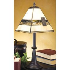 J Devlin Table Lamp 632, Modern Style Stained Glass Table Lamps