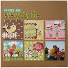 #papercraft #scrapbook #layout    *Loving our everyday life - My little shoe box* - Two Peas in a Bucketshapes