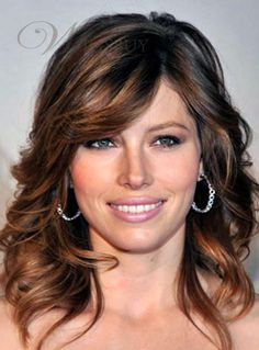 atest Hairstyle Most Attractive Medium Wavy about 14 Inches Brown Human Remy Hair Best Quality Prom Lace Wig
