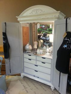Bon Made This TV Armoire Into A Vanity Armoire! One Of My Favorite Things And So