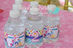 My Little Pony Water Bottle Labels by BlissfullyNoted on Etsy, $12.00