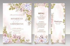 Premium Vector | Elegant floral template wedding card Wedding Invitation Card Template, Wedding Card Templates, Save The Date Invitations, Floral Wedding Invitations, Wedding Cards, Pink Abstract, Floral Watercolor, Wedding Flowers, Elegant