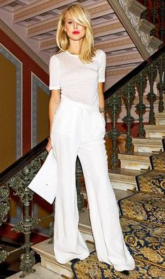 Ain't No Party Like A White Party #crepe #oversize #wide-leg