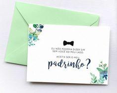 Convite Padrinho + Envelope