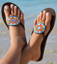 f4fbf812169b4d Сандалии женские.Ручная работа.Кения. Beaded Sandals