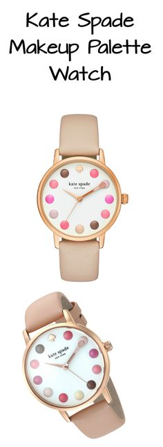 Happy hour takes on new meaning with this whimsicalKate Spade New York Makeup Palette Metro Watch! It's the perfect gift for make-up lovers! #kate_spade #katespade #color #colors #pastel #blush #pastels #multicolored #watch #makeup #fashion #palette