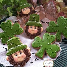 Make this March 17 special by baking some delicious St. From Shamrock cookies to Leprechaun ones check out the best cookies here. Irish Cookies, St Patrick's Day Cookies, Super Cookies, Cut Out Cookies, Iced Cookies, Easter Cookies, Royal Icing Cookies, Fun Cookies, Holiday Cookies