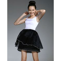 Cocktail Party/Prom/Holiday/Sweet 16 Dress - A-line/Princess Square Short/Mini Satin/Organza – USD $ 29.99