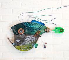 Reclaimed Wood Art, Wood Wood, Driftwood Wall Art, Hawaiian Decor, Fish Wall Art, Wood Fish, Rusty Metal, Beautiful Pools, Assemblage Art