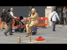 Seen in London There is a steel plate on the pavement, covered with a grey carpet. In the corner of the plate, there is a rod sticking out. Into this, the th...