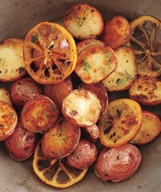 Roasted Potatoes and Lemon With Dill