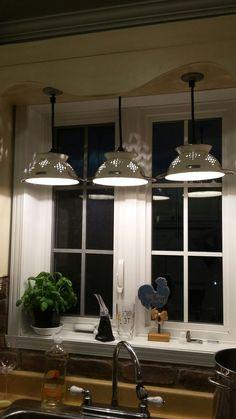 Rustic Kitchen Cabinets, Farmhouse Kitchen Decor, Kitchen Redo, Country Kitchen, Kitchen Remodel, Wagon Wheel Decor, Pole Barn House Plans, Diy Light Fixtures, Kitchen Ceiling Lights