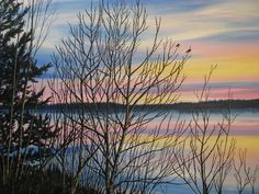 Spring at Waskesiu Acrylic on canvas By Jewel Buhay