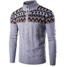 OMINA Mens Knit Sweater Cardigan Casual Autumn Winter Windproof Warm Slim Fit Shawl Outwear