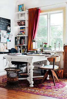 office at home | persian rug