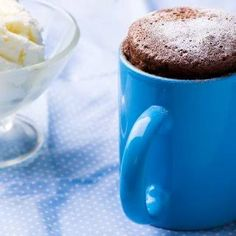 Cupcake de Chocolate de Microondas