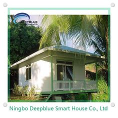 DeepBlue bungalow 1.earthquake,furicane,fire proof; 2.100 years lifetime for structure; 3.energy save; 4.green.