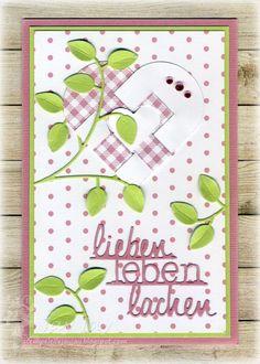 Kulricke Norsk Julehjerte (klein) Stanze, Kulricke lieben leben lachen Stanze, Kulricke Zweig mit Blättern Stanze, Kulricke Designpapier