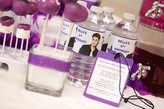 Justin Bieber / Rockstar Party DIY Invitation using the 'backstage pass'