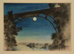 Chiura Obata Full Moon, Pasadena, California