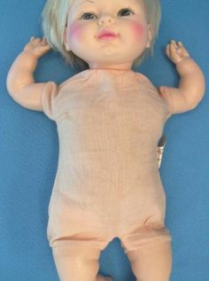 My 1976 Horsman Talking Happy Baby Doll. Cute painted face & dimple chin.