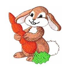 ch09 - Bunny w/Carrot Children's Embroidery Design