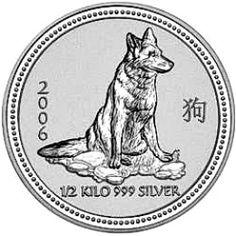 2006 Year of the Dog - Australian Silver Lunar Bullion Coin - Series I - Reverse side
