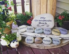 I want to paint rocks and put my grandchildren's name on them.