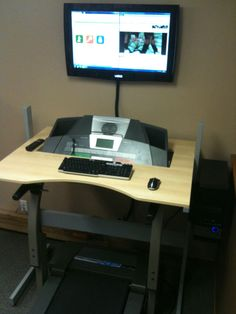 Treadmill Desk Top | DIY Treadmill Desk Example | curated by WorkWhileWalking.com
