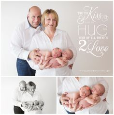 Newborn twin family photos by Nicole at Vintage Pear Photography