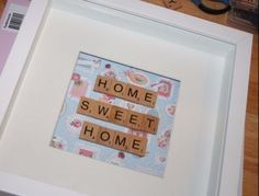 Home Sweet Home Scrabble Frame - http://www.thegiftshopemporium.co.uk/ourshop/prod_3785202-Home-Sweet-Home-Scrabble-Frame.html