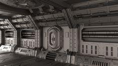 scifi hallway - Google-haku